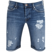 True Religion Rocco Denim Shorts Blue