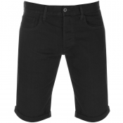 G Star Raw 3301 Denim Shorts Black