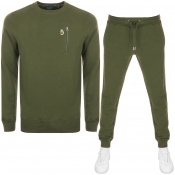 Product Image for Luke 1977  Paris And Rome Tracksuit Khaki