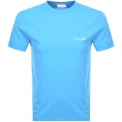 Calvin Klien Small Logo T Shirt Blue