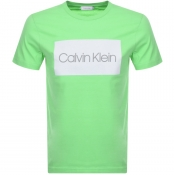 Product Image for Calvin Klein Flock Logo T Shirt Green