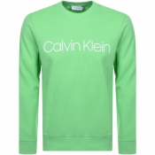 Product Image for Calvin Klein Logo Crew Neck Sweatshirt Green