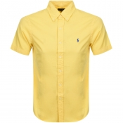Product Image for Ralph Lauren Short Sleeved Slim Fit Shirt Yellow