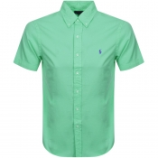 Ralph Lauren Short Sleeved Slim Fit Shirt Green
