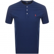 Ralph Lauren Crew Neck Pique T Shirt Navy