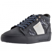 Product Image for Android Homme Prop Mid GEO Suede Trainers Navy