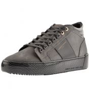 Android Homme Prop Mid GEO Leather Trainers Grey