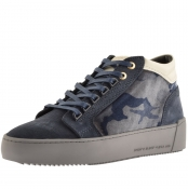 Android Homme Prop Mid GEO Suede Trainers Blue