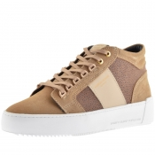 Android Homme Prop Mid GEO Suede Trainers Beige