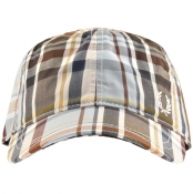 Product Image for Fred Perry Madras Check Baseball Cap Blue