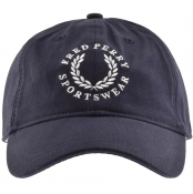 Fred Perry Branded Baseball Cap Blue