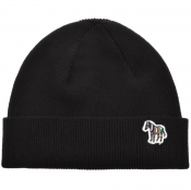 PS By Paul Smith Zebra Beanie Hat Black