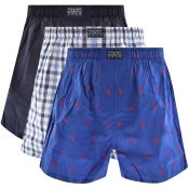 Product Image for Ralph Lauren Underwear 3 Pack Boxer Navy