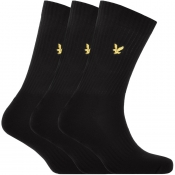 Product Image for Lyle And Scott Hamilton Three Pack Socks Black