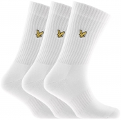 Product Image for Lyle And Scott Hamilton Three Pack Socks White