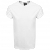 Product Image for G Star Raw Crew Neck Logo T Shirt White