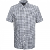Product Image for Fred Perry Short Sleeved Gingham Shirt Navy