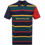 Billionaire Boys Club Stripe Polo T Shirt Navy