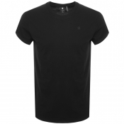 Product Image for G Star Raw Crew Neck Logo T Shirt Black