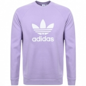 Adidas Originals Trefoil Crew Sweatshirt Purple