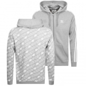 adidas Originals Monogram Full Zip Hoodie Grey