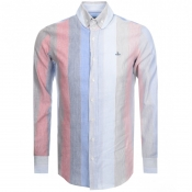 Product Image for Vivienne Westwood Stripe Krall Shirt Blue