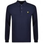 Lyle And Scott Long Sleeved Polo T Shirt Navy