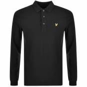 Product Image for Lyle And Scott Long Sleeved Polo T Shirt Black