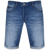 G Star Raw 3301 Denim Shorts Blue