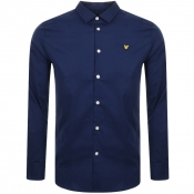 Lyle And Scott Long Sleeve Poplin Shirt Navy