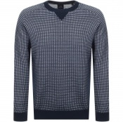 Armani Exchange Crew Neck Knit Jumper Navy