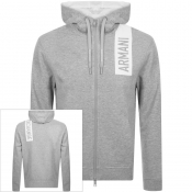 Product Image for Armani Exchange Full Zip Logo Hoodie Grey