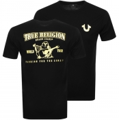 True Religion Metallic Buddha T Shirt Black