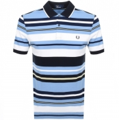 Product Image for Fred Perry Bold Stripe Polo T Shirt Blue
