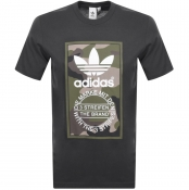 Adidas Originals Camo Trefoil T Shirt Grey