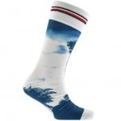 Tommy Hilfiger Palm Print Socks Blue