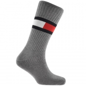 Tommy Hilfiger Logo Flag Socks Grey