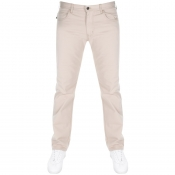 Emporio Armani J45 Regular Fit Jeans Beige
