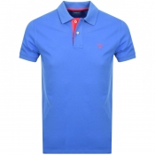 Product Image for Gant Contrast Collar Rugger Polo T Shirt Blue