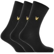 Lyle And Scott Angus Three Pack Socks Black
