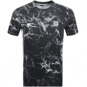Adidas Originals Marble Three Stripe T Shirt Black