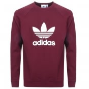 Adidas Originals Trefoil Sweatshirt Burgundy