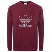 Product Image for Adidas Originals Trefoil Sweatshirt Burgundy